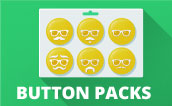 Pin Button Pack Template